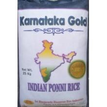 Sona Masuri Raw Rice Karnataka Gold Brnad -Indian Ponni Rice -25 kg 1yr Old (Min Ord 4 Bag)