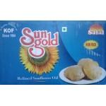 Sun gold refined sunflower oil 1L*10 pouches  or box