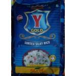 Y gold  sona masoori  raw rice 1yr old 25kg  (min order 100kg)